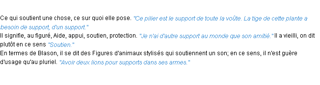 Définition support ACAD 1932